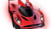 Ferrari P4/5 LMP rendering