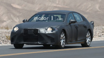 Next Lexus LS wears tail fins while testing