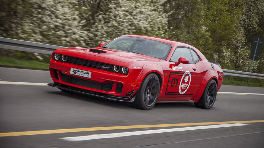 Prior Design widebody kit gives the Hellcat sharper claws