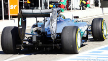 Nico Rosberg, Mercedes AMG F1 W05 rear wing and exhaust detail