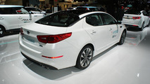 Kia Optima T-Hybrid concept at 2014 Paris Motor Show
