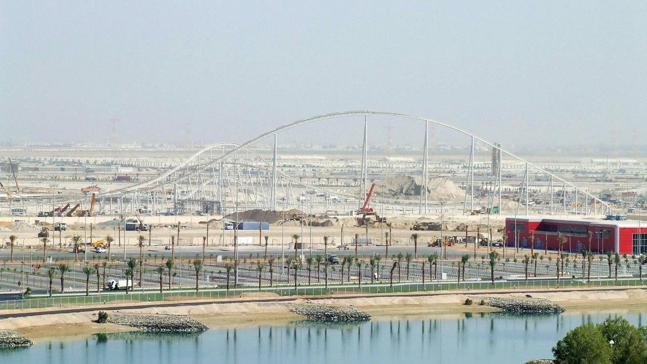 Ferrari World under construction, Yas Island, Abu Dhabi 15.03.2010