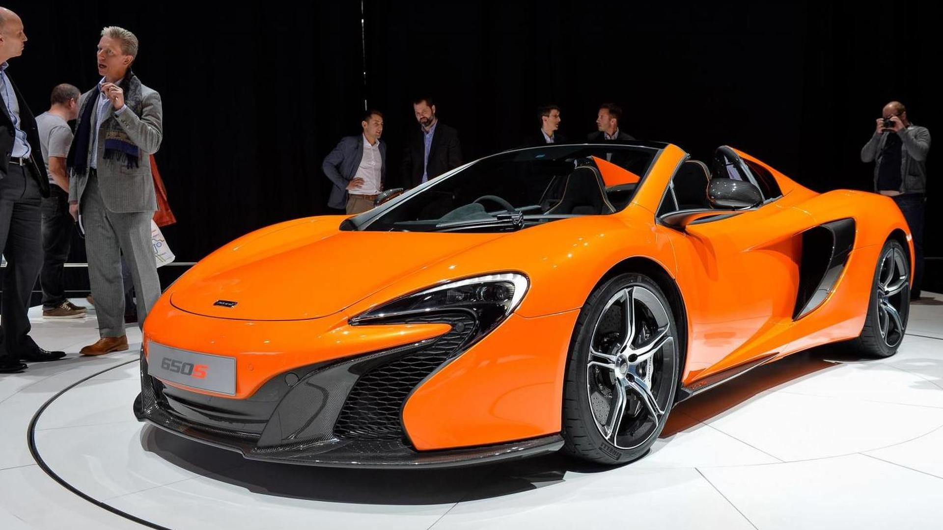 McLaren 650S Spider shocks Geneva, hits 100 km/h in 3s like coupe