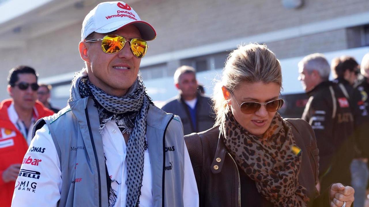 Michael Schumacher with wife Corinna Schumacher 18.11.2012 United States Grand Prix