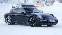 Porsche 911 & 911 Turbo facelift spied cold weather testing