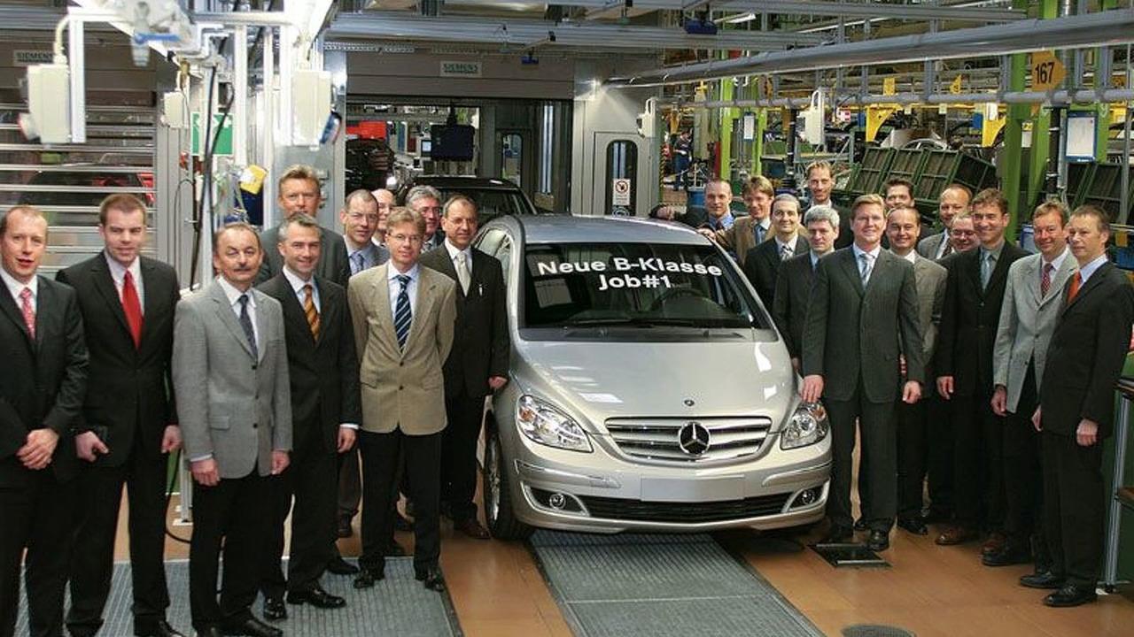 Mercedes-Benz B-Class Production Starts