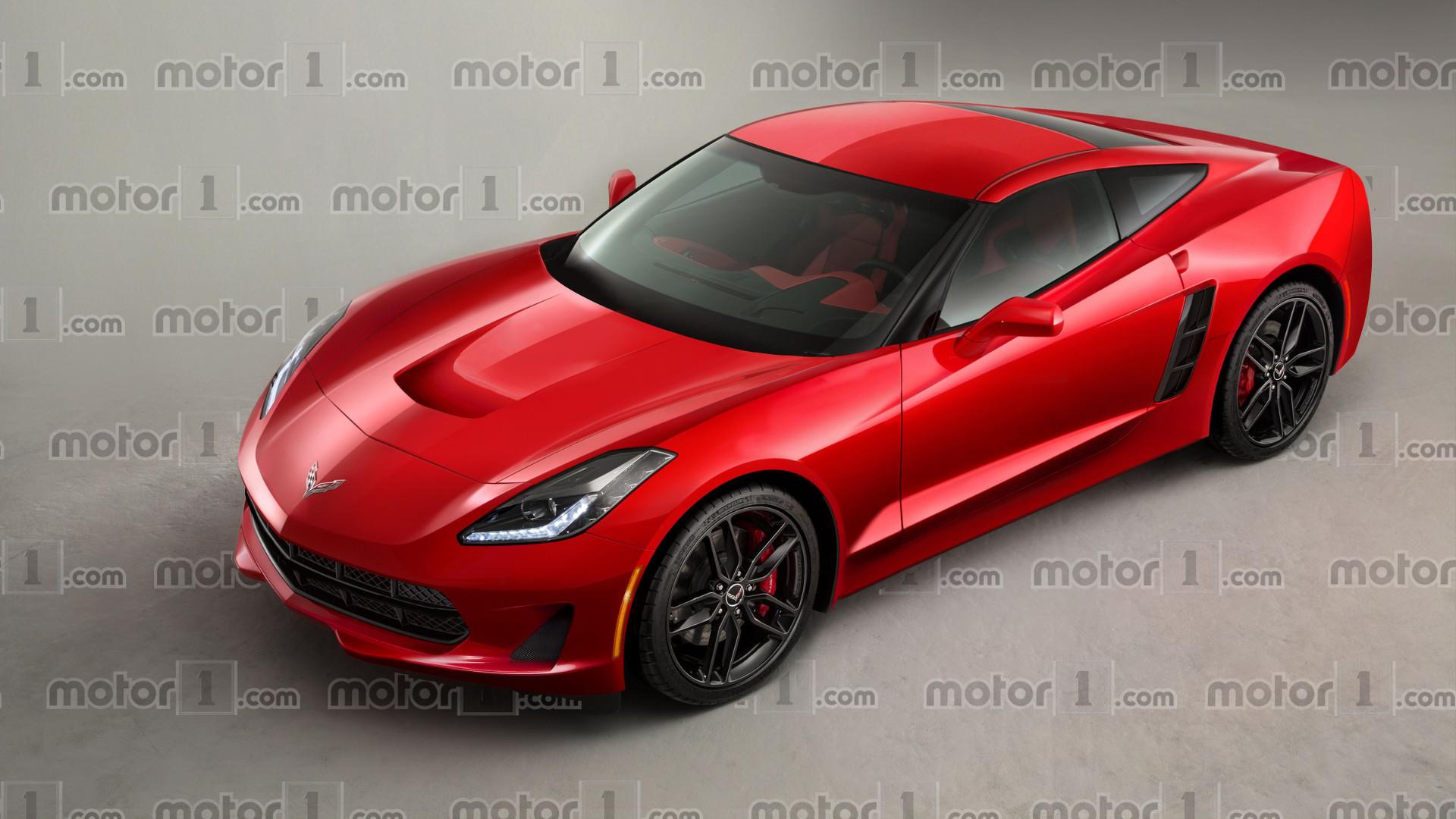 chevy corvette c8 render previews midengined future