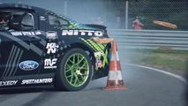 Vaughn Gittin Jr drifts the RTR Mustang in France [video]