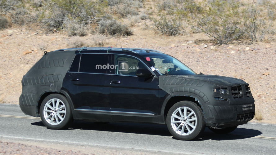 Volkswagon Teramont spied almost ready for 2016 debut