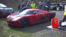 Koenigsegg Agera R during Need for Speed movie filming