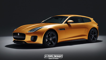 Jaguar F-Type 400 rendered as a sexy shooting brake