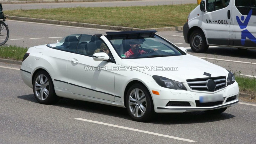 Mercedes-Benz E-Class Cabrio spied with top down