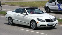 Mercedes-Benz E-Class Cabrio spied with top down