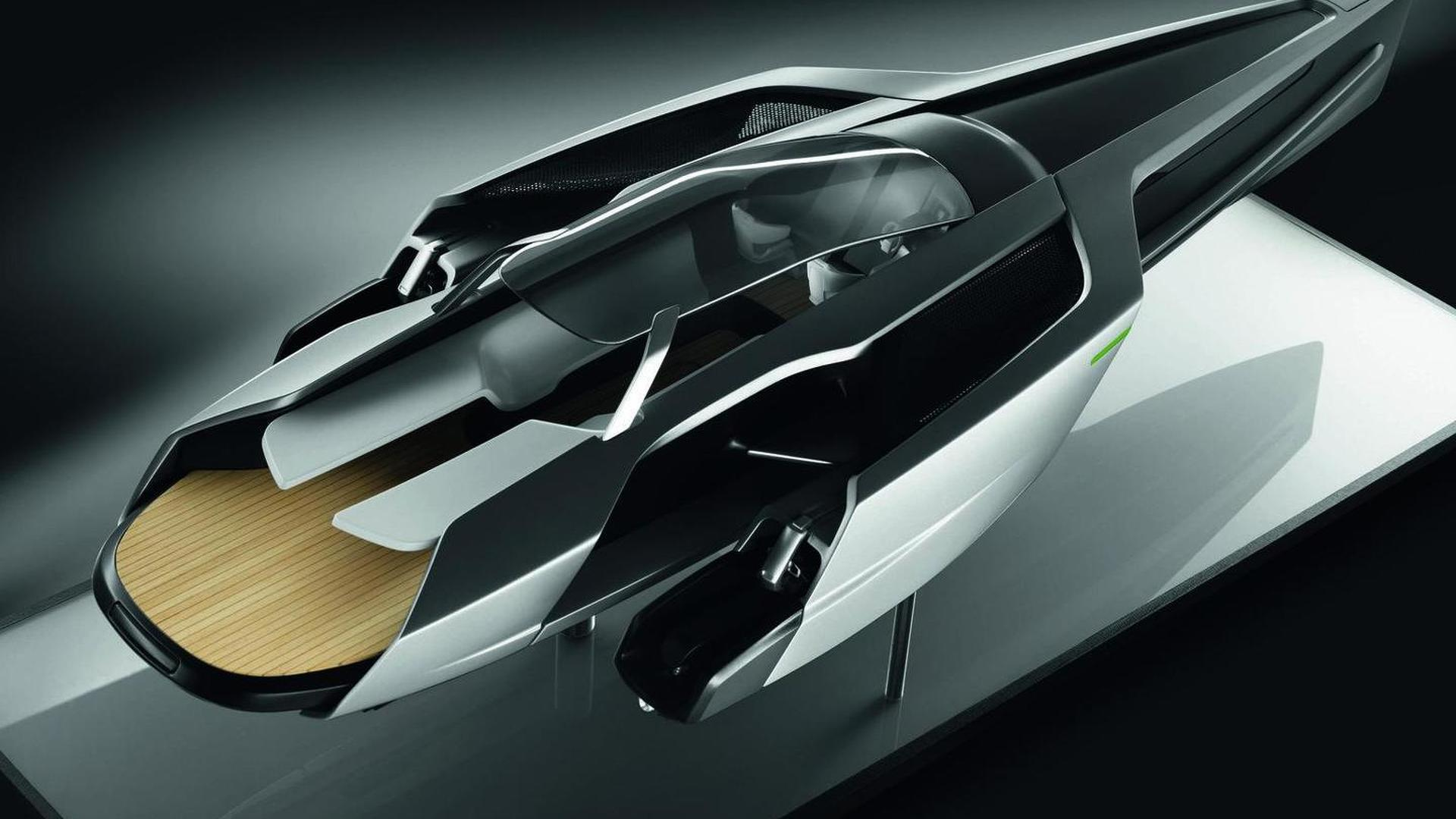 Audi Trimaran yacht envisioned by a design student