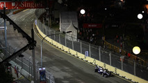Singapore track wet for Friday evening practice