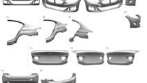 BMW 1 Series Sedan body panels found in patent filling