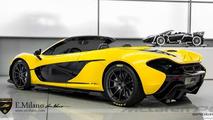 McLaren P1 gets rendered in a Spider version