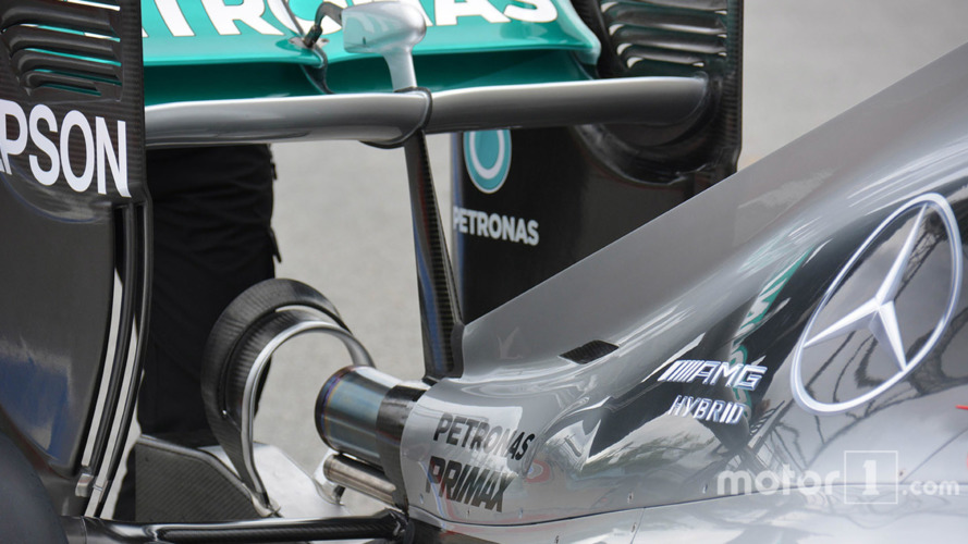 Mercedes AMG F1 W07 rear detail