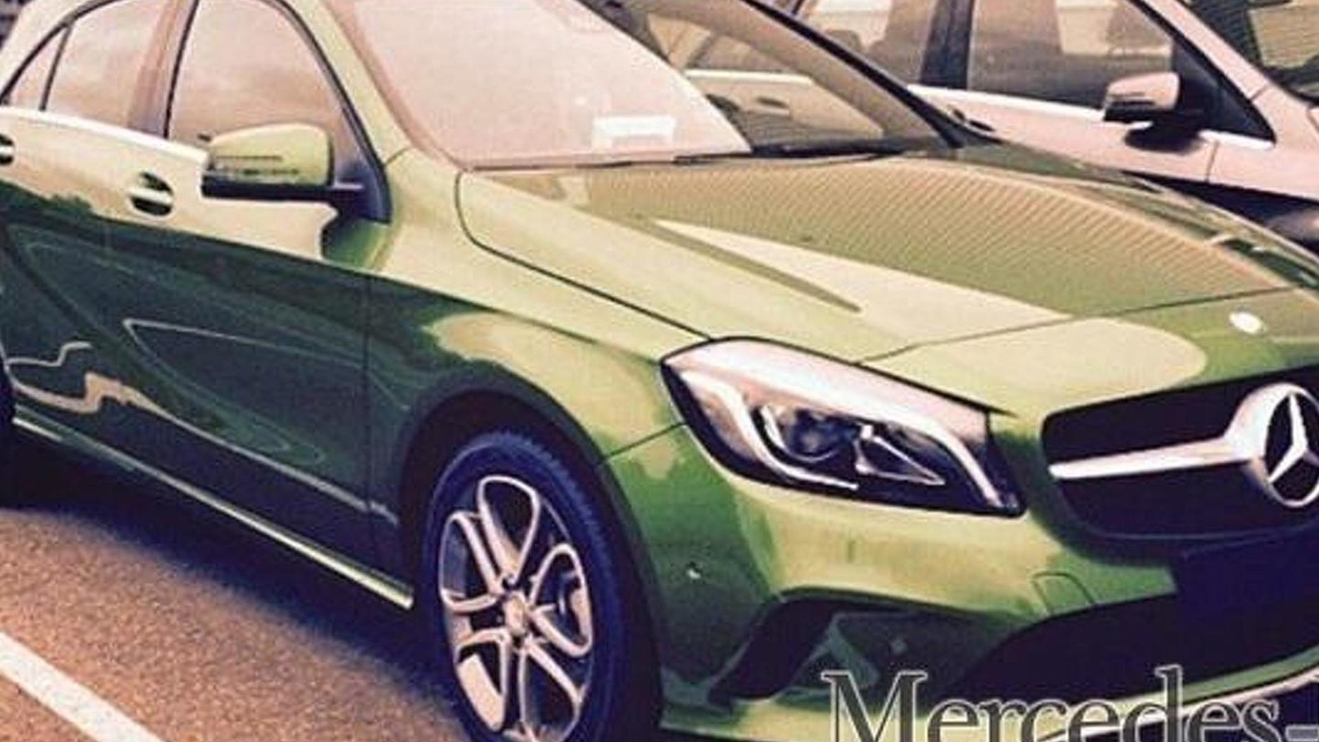 Mercedes-Benz A-Class facelift spied undisguised showing new color