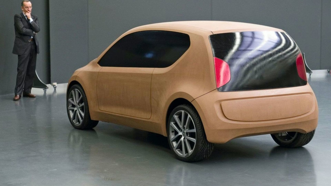 Walter Maria de'Silva, Head of VW Group Design , with the new Volkswagen up! concept car, 10.09.2007