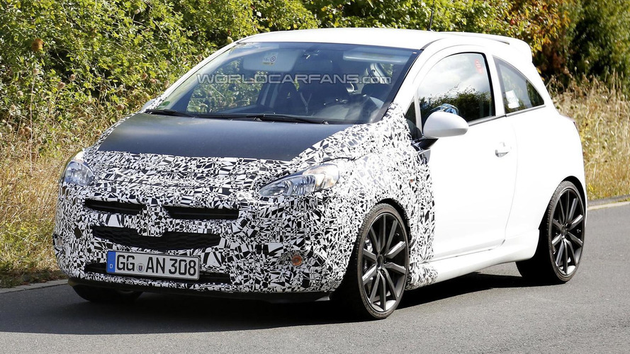 2014 Opel Corsa and Corsa OPC spied hiding minor changes