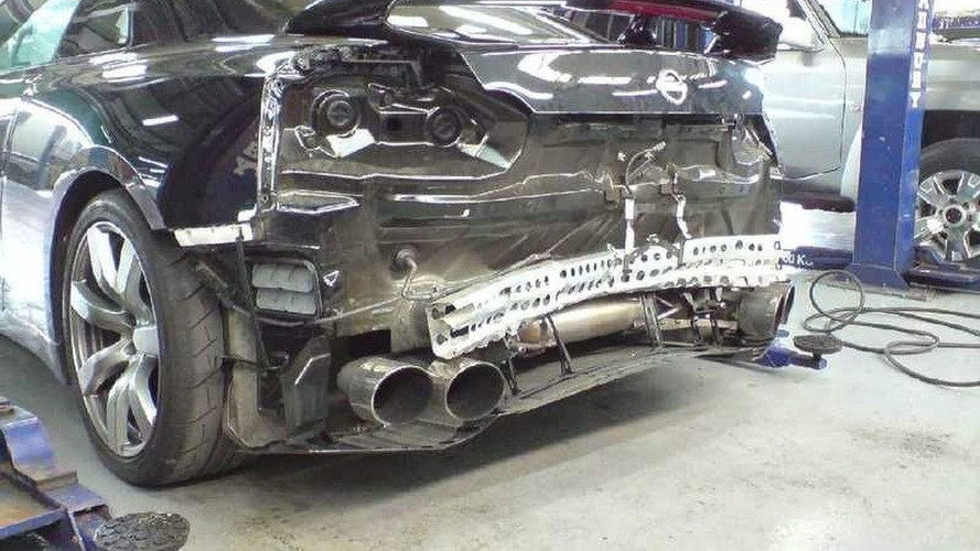 Nissan GT-R Gets Hit in Rear During Top Gear Photo Shoot