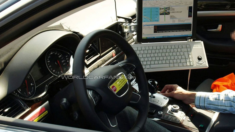 Next Generation Audi A8 Test Mule Caught With New Interior Components