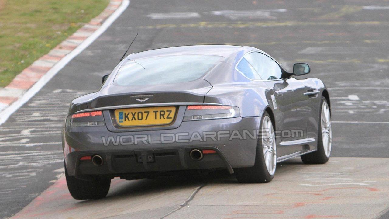 Aston Martin DBS DB9 facelift spy photo, Nurburgring Nordschleife, Germany 19.05.2010