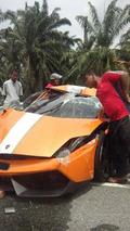 Special Lamborghini Gallardo LP550-2 MLE demolished in Malaysia