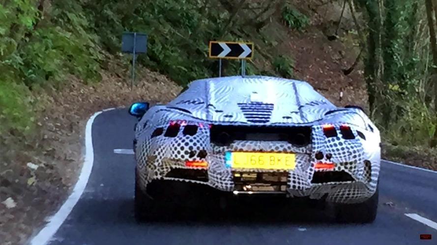 McLaren P14 test mule stalked