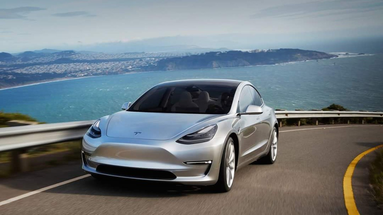 New tesla model 3 beauty photos surface for The most important thing in backing a motor vehicle is