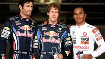Mark Webber (AUS), Red Bull Racing, Sebastian Vettel (GER), Red Bull Racing, Lewis Hamilton (GBR), McLaren Mercedes -Formula 1 World Championship, Rd 16, Japanese Grand Prix, 10.10.2010 Suzuka, Japan