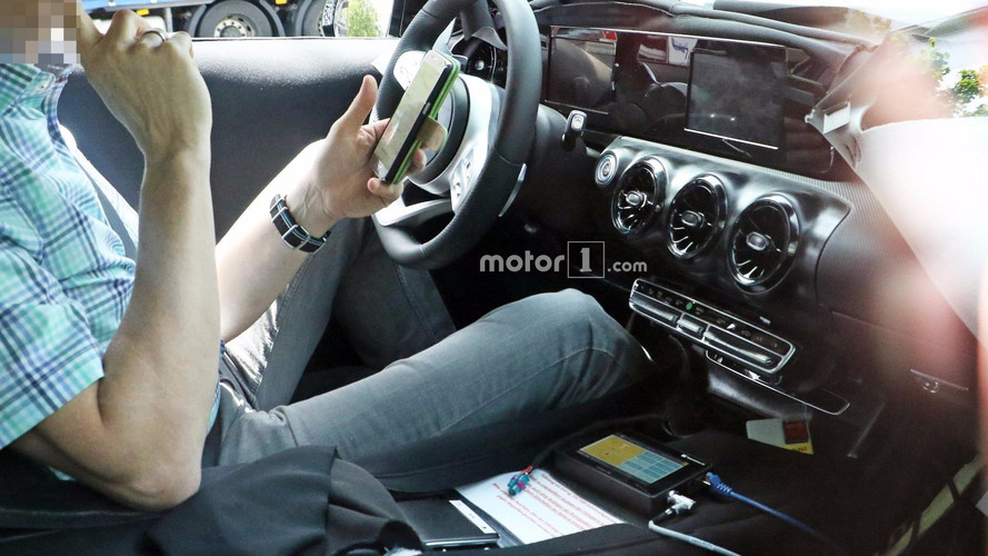 2019 mercedes a class sedan spied for the first time for Compact mercedes benz crossword