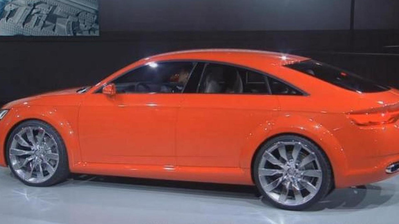 audi tt sportback concept breaks cover in paris