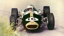 Sir Jack Brabham in the BT19-Repco drifting at the 1966 Dutch Grand Prix