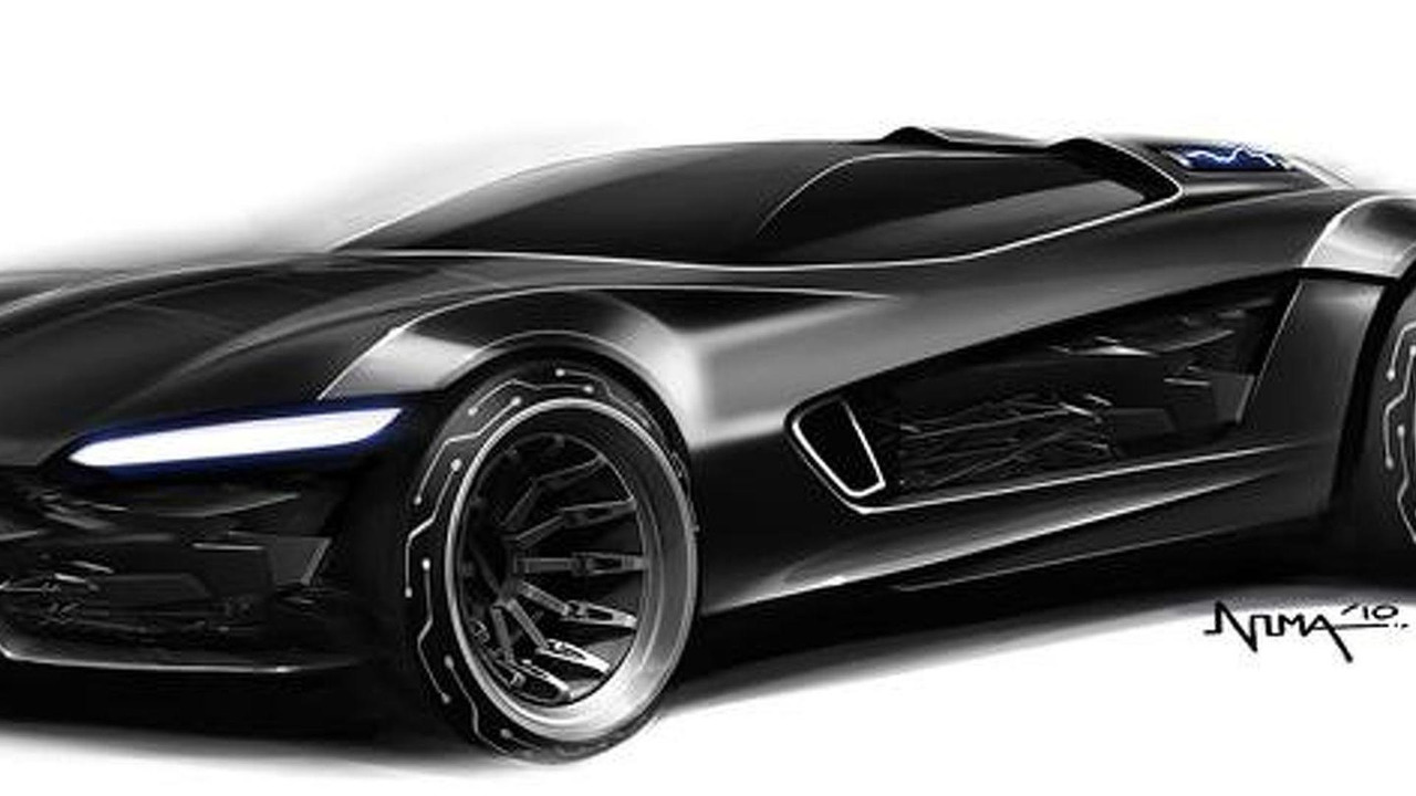 Ford Mad Max Interceptor concept artist rendering by Nima Nourian, 670, 30.03.2011