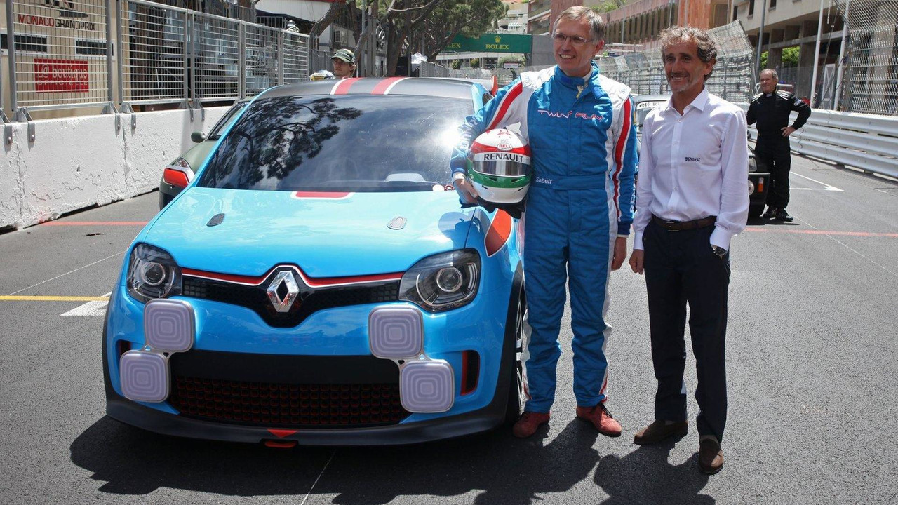 Carlos Tavares with the Renault TwinRun Concept Car and Alain Prost 24.05.2013 Monaco Grand Prix
