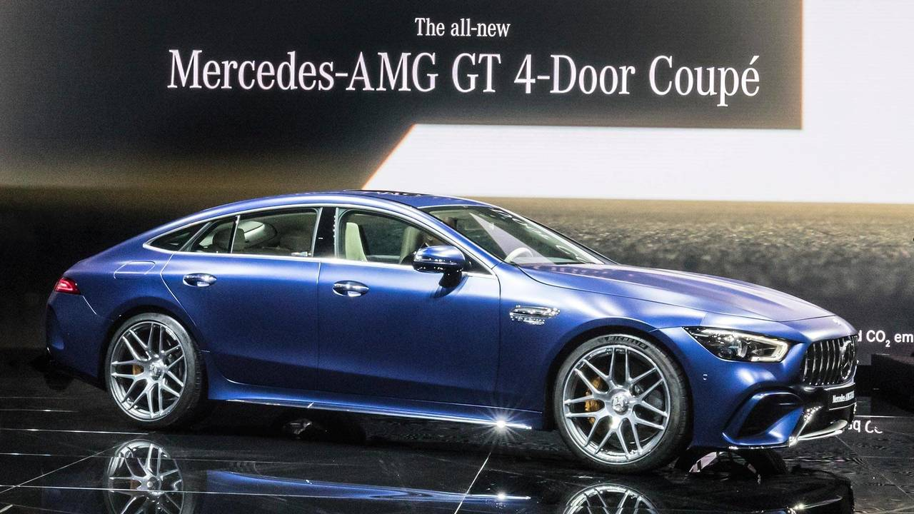 2019 mercedes amg gt 4 door coupe storms geneva with 630 hp for Mercedes benz 4 door