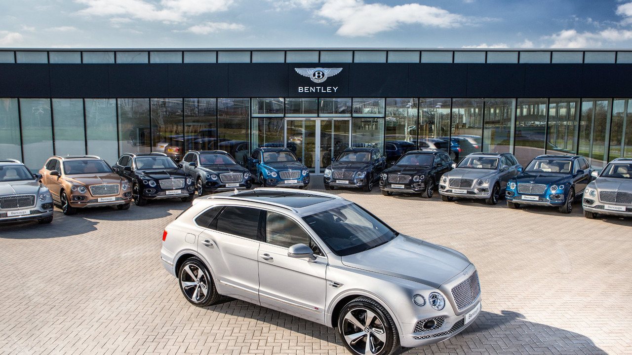 First Production Bentley Bentayga crossovers
