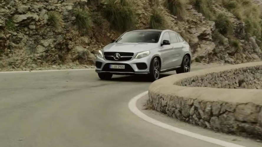 Lewis Hamilton takes the Mercedes GLE Coupe for a spin [video]
