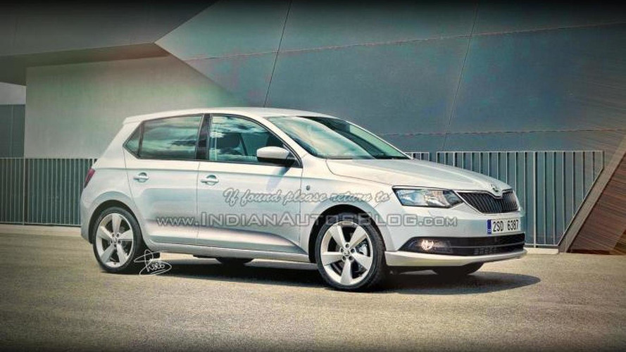 2015 Skoda Fabia rendered based on teaser sketch, new details emerge