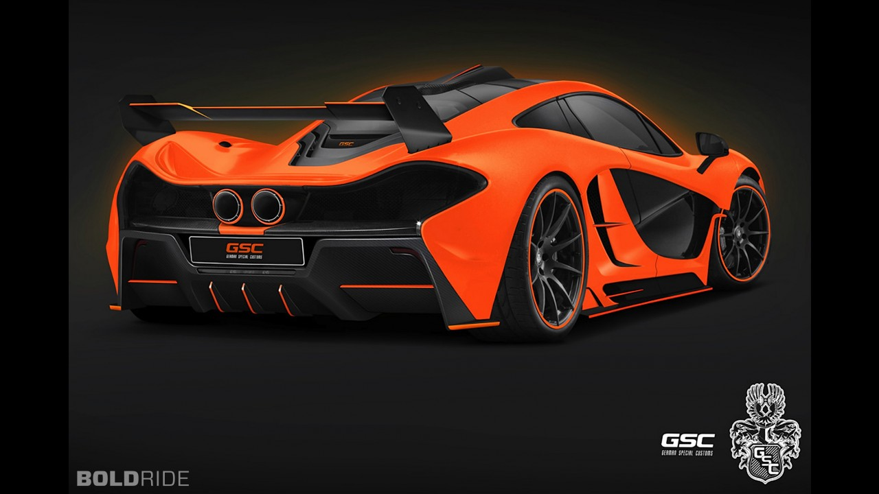 German Special Customs McLaren P1 Night Glow