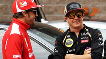 Fernando Alonso with Kimi Raikkonen 14.10.2012 Korean Grand Prix