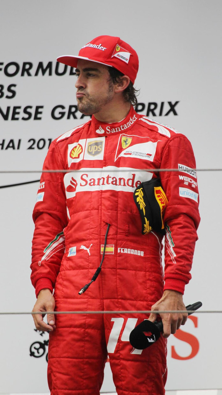 Fernando Alonso (ESP) on the podium, 20.04.2014, Chinese Grand Prix, Shanghai / XPB