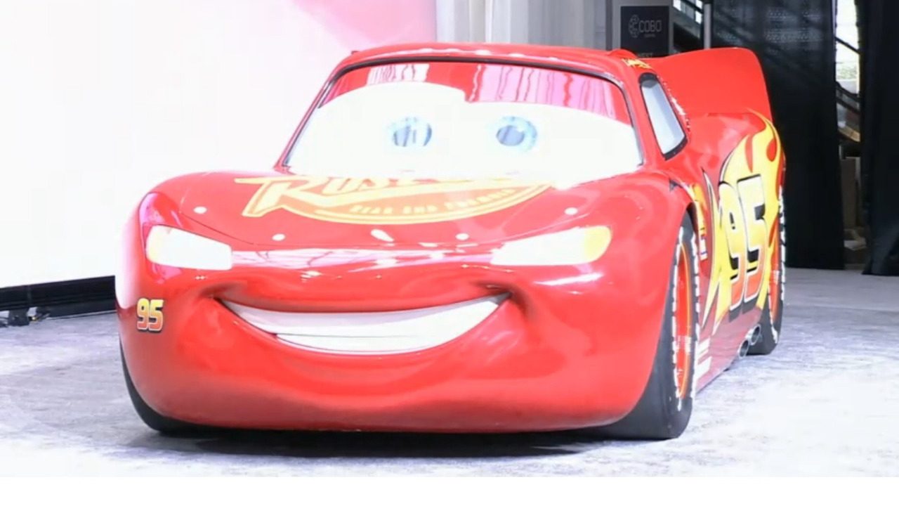Lightning McQueen at 2017 Detroit Auto Show