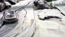 Snow rallying slot car track