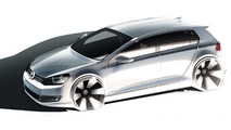 Volkswagen Golf VI design sketch