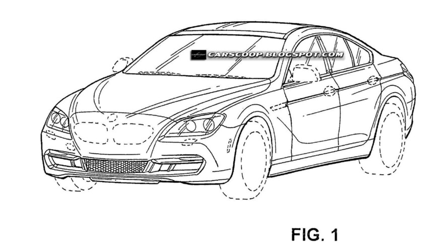 BMW 4-door coupe patent sketches leaked