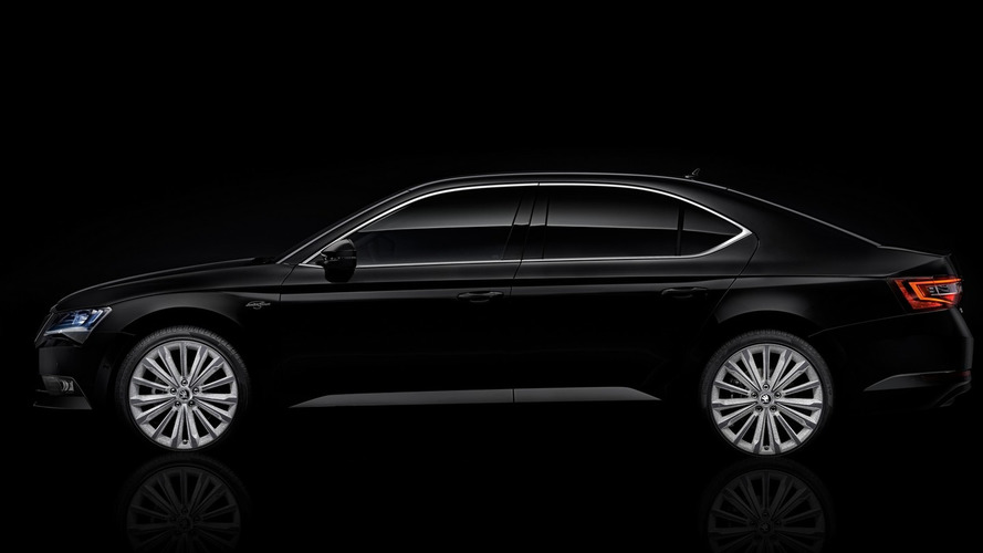 Skoda Superb Laurin Klement Black Crystal revealed with shiny crystal accents