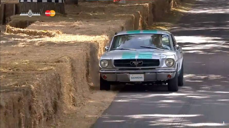 Drunk Autonomous Mustang Takes A Roll In The Hay At Goodwood